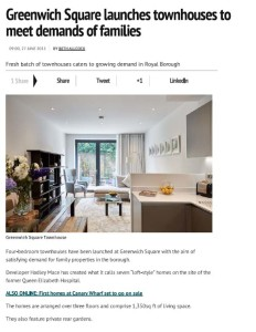 greenwich square launches townhouses